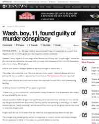 Wash boy 11 found guilty of murder conspiracy: CBS News